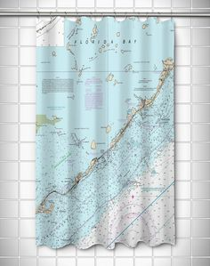 Nautical Chart Islamorada, FL Shower Curtain