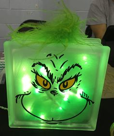 The Grinch light up block by EklecticDesigns on Etsy