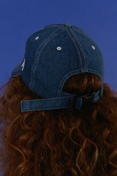 Denim 'A' cap - Capsule collection 2016 www.adererror.com #ader #fashion #content #minimal #simple #basic #mixmatch #wit #styling #wit