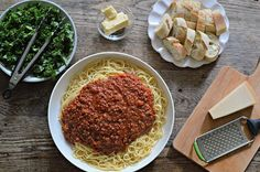 "The best bolognese sauce recipe. Takes hours so good for a weekend or slow cooker (?). Triple the recipe and store or freeze. Use it for spaghetti, lasagna, or ""lazy lasagna"" (just GF tube type pasta baked with the sauce, olives & mozarella etc)."