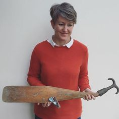 Oar + boat hook = 🐳 I'm sure I'm not alone in being much more comfortable on the other side of the camera but the proportions just weren't working for IG! Just have to work out how to hang it now (the tail is very heavy! Kirsty Elson, Driftwood Fish, Driftwood Projects, Fish Art, Men Sweater, Photo And Video, Female, Instagram Posts, Whales