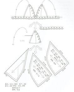Bra making with Underwear Pattern, Lingerie Patterns, Sewing Lingerie, Clothing Patterns, Barbie Patterns, Sewing Patterns, Lingerie Couture, Diy Couture, Bralette Pattern