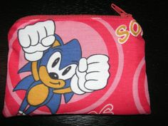 Sonic cartoon handmade zipper fabric coin by alwaysamazingdesigns, $2.99