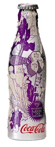 Purple designer Coke bottle...south africa