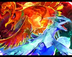 Legendary Pokemon Fat Art - Ho-oh & Lugia