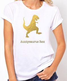 Aunt TShirt Auntysaurus Rex Aunt Shirt Mother's by threadedtees