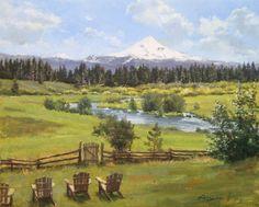 Richard Boyer (1958-): House On Metolius, Camp Sherman, Oregon