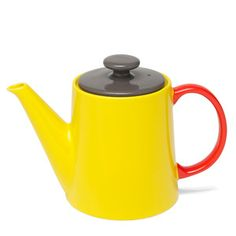 My Tea Pot Yellow Gray Red now featured on Fab.
