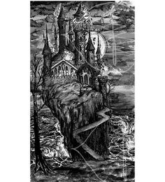 Tarot Card Art Print of The Tower 8x10 Print  of by treetalker, $18.00