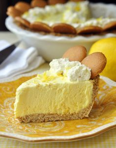 Old Fashioned Lemon Icebox Pie - a great old standard frozen dessert pie like Grandma used to make with added minced lemon zest for more intense lemon flavor. A perfect dessert for your Father's Day BBQ.