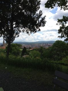 Fabulous view and nice cakes at the Cafe Villa Remeis in Bamberg
