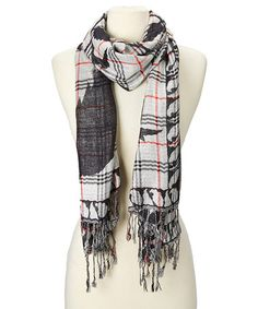 Love this Black & White Paisley Plaid Scarf on #zulily! #zulilyfinds