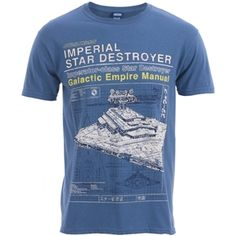 Star Wars Men's Imperial Star Destroyer T-Shirt (Blue)