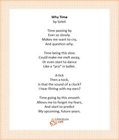 """Why Time"" by reading circle participant, Soleil Time Passing, I Want To Cry, Circles, Crying, Things I Want, Shit Happens, This Or That Questions, Reading, Word Reading"