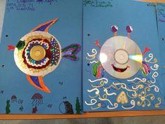 Recursos per a l'educació - Professors, AMPAs, Adolescents, Nens Cd Crafts, Arts And Crafts, Tapas, Art For Kids, Crafts For Kids, Ocean Themes, Animal Crafts, Cover Pages, Art Activities