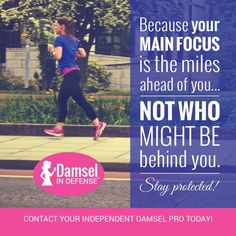 Because your main focus is the miles ahead of you.... not who might be behind you. Stay protected!   Damsel in Defense Patti Stewart  Pearl Director https://www.pinterest.com/lvdidpro/