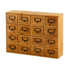 Wooden Chest 16 Drawers Retro Rustic Vintage Style Organiser Storage Unit