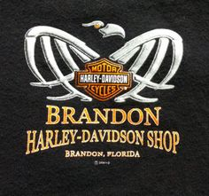 Harley-Davidson-Shirt-Brandon-Florida-Medium-Black-Craft-Cutter