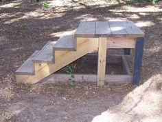 Mounting block - would add railing and maybe a tie post to the other side so that the horse could not swing out away while kids are trying to get on Horse Mounting Block, Horse Arena, Wood Shop Projects, Barn Renovation, Horse Gear, Dream Barn, Barn Plans, Hobby Farms, The Ranch