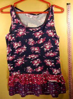 400 Ft.    Póló - kék-lila-rózsaszín, virág mintás, ujjatlan (Matalan) Lany, Tank Man, Tank Tops, Women, Fashion, Halter Tops, Moda, Women's, La Mode