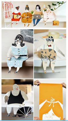 Swedish Designer and artist who living in Stockholm in Sweden) Malin Koort's PAPER PEOPLE Project. http://www.malinkoort.se/