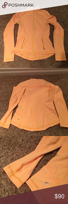 Lululemon define jacket Lululemon define jacket - like new, barely worn!  Golden yellow and accent yellow zippers.  See other coordinating yellow tops (2) to bundle and coordinate with this jacket. lululemon athletica Jackets & Coats
