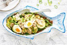 Kijk wat een lekker recept ik heb gevonden op Allerhande! Linzen-makreelsalade met avocado en ei