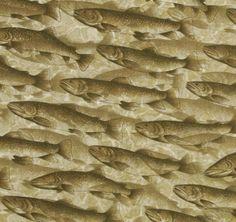 interior design fabrics - vintage fish fabric vintage fish & lures fabric interior ...