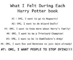 """Fairly accurate...#7 should also say """"OMG, I don't want this book to end"""""""