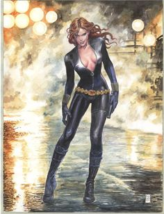 Black Widow by Milo Manara *