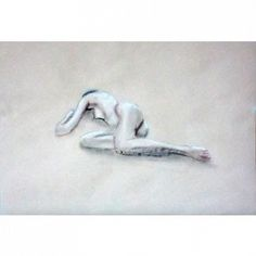 Nude realized with charcoal on paper from the series of nudes by Ilaria Berenice.