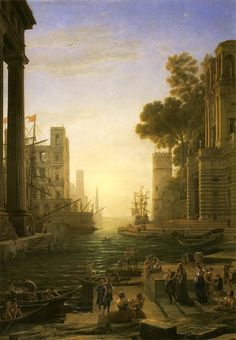 聖パウラが上陸するオスティアの港; 1639-1640年頃 クロード・ロラン