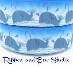 Ribbon and Bow Studio carry a large range printed and solid grosgrain ribbons and what a great idea to buy ribbons online from a company in Australia, perfect for all your crafts or hairbow making Cute Whales, Grosgrain Ribbon, Ribbons, Hair Bows, Printed, Studio, Crafts, Stuff To Buy, Ribbon Hair Ties