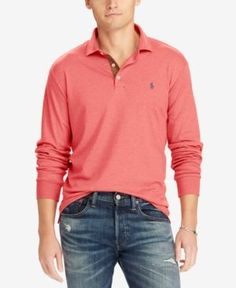 Polo Ralph Lauren Men's Classic-Fit Soft-Touch Polo - Orange XXL