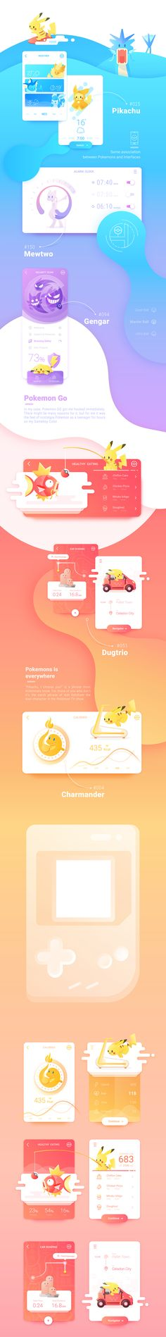 Pokémon Themed Web Design w/Animated Scroll Web And App Design, Ui Ux Design, Site Design, Site Inspiration, Graphic Design Inspiration, Web Layout, Layout Design, Apps, Webdesign Layouts