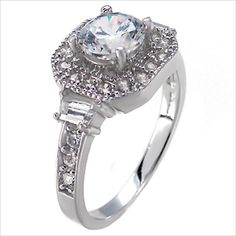 .5 ct Round Brilliant cut Engagement Ring 925 Silver