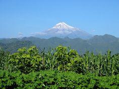 Citlaltepetl, seen from near Huatusco, Veracruz, Mexico