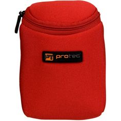 Protec 3 Piece Trumpet Neoprene Mouthpiece Pouch Red