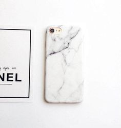 White Marble iPhone 7 Case iPhone 7 Plus Case by CoolTeesOnline