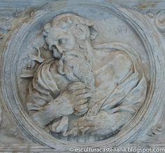 Sepulcro de Gonzalo Díez de Lerma en la catedral de Burgos. Medallón de San Jerónimo.