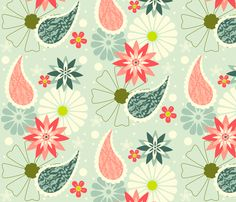 Spring Paisley  fabric by natitys on Spoonflower - custom fabric