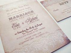 Wedding invitations elegant romantic lace  by DesignedWithAmore, $2.00