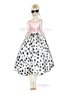 Reiley Fashion Illustration by Brooke Hagel~❥