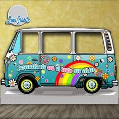 Furgoneta Hippie LateralLateral Lateral is a geometric term of location which may refer to: Photos Booth, Photo Booth Frame, Photo Booth Props, Combi Hippie, Hippie Car, Hippie Birthday Party, 60th Birthday Party, 60s Party, Disco Party