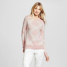 Women's Pullover Sweaters - Merona Pink S