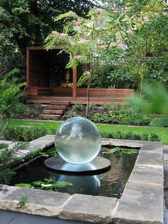 Spherical Water Fountain by Modular Garden, via Flickr if anyone knows where to get this fountain I would love to know.