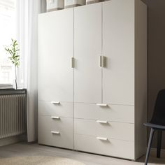 IKEA - FONNES, Door, white, The door can be hung with the opening to the right or the left. To be completed with 2 HJÄLPA hinges, sold separately. Cabinet Doors, Filing Cabinet, Tall Cabinet Storage, Armoire, Wardrobe Systems, Bedroom Cupboard Designs, Ikea Family, Clothes Rail, Drawer Fronts
