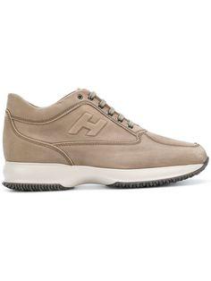 HOGAN logo lace-up sneakers. #hogan #shoes #