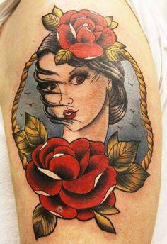 Classic American style tattoo
