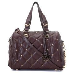 michael kors factory outlet handbags hanq  MICHAEL Michael Kors Stud Quilted Satchel Coffee 路 Mk Bags OutletMichael